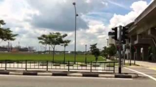 Sengkang Singapore open field adjacent to central