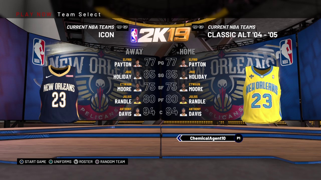 Nba 2k19 New Orleans Pelicans Uniforms All Franchise History Uniforms All Teams Ratings