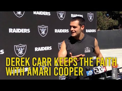 Derek Carr keeps the faith with Amari Cooper