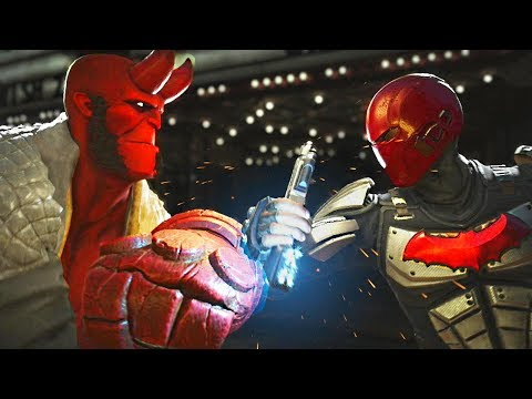 Thumbnail: Injustice 2 - Hellboy vs Red Hood All Intros, Clash Quotes And Supermoves