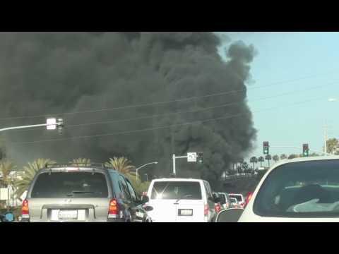 San Diego Palm Ave BP Tanker Fire 6.16.2010