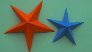 Как сделать звезду из бумаги своими руками на 9 мая