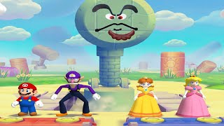 Mario Party 5 - Minigames - Mario Waluigi Daisy (Peach Bad Luck) All Funny MiniGames