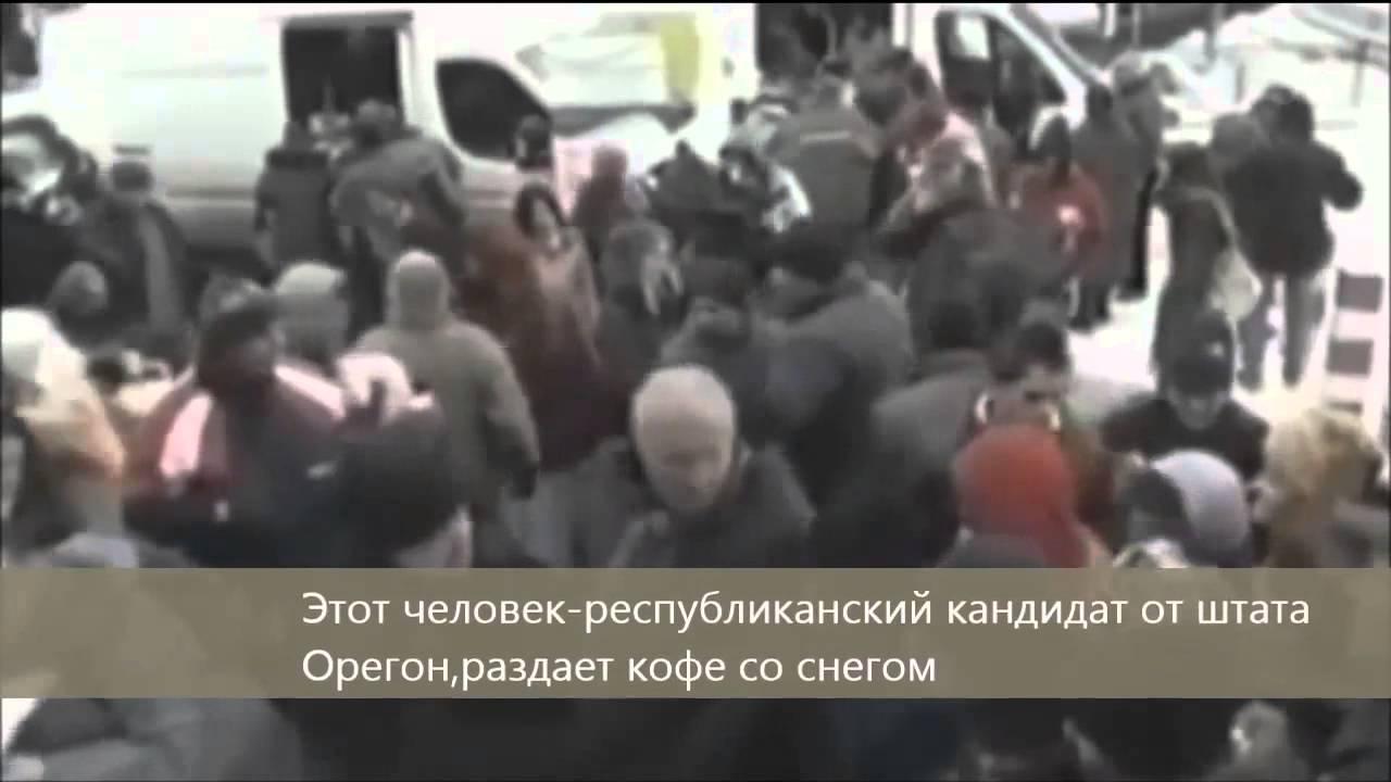 Жизнь США глазами телевидения КНДР. - русские субтитры