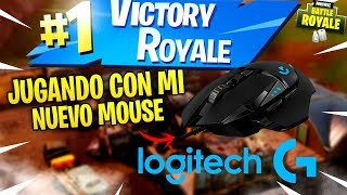 VICTORY WITH MY NEW MOUSE IN FORTNITE! Logitech G502 HERO!