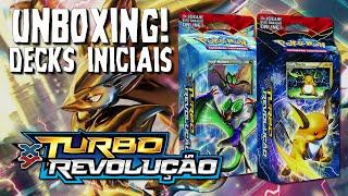 Pokémon TCG - Unboxing Deck Inicial Turbo Revolução! XY8