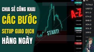 #124 -Chia sẻ các bước SETUP GIAO DỊCH trading hàng ngày | Giao dịch xu hướng