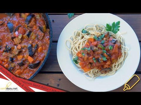 auberginen-tomatensauce-mit-spaghetti-i-einfache-mediterrane-pasta-sauce