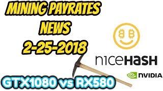 Mining Payrates / News 2-25-18 RX580 vs GTX1080