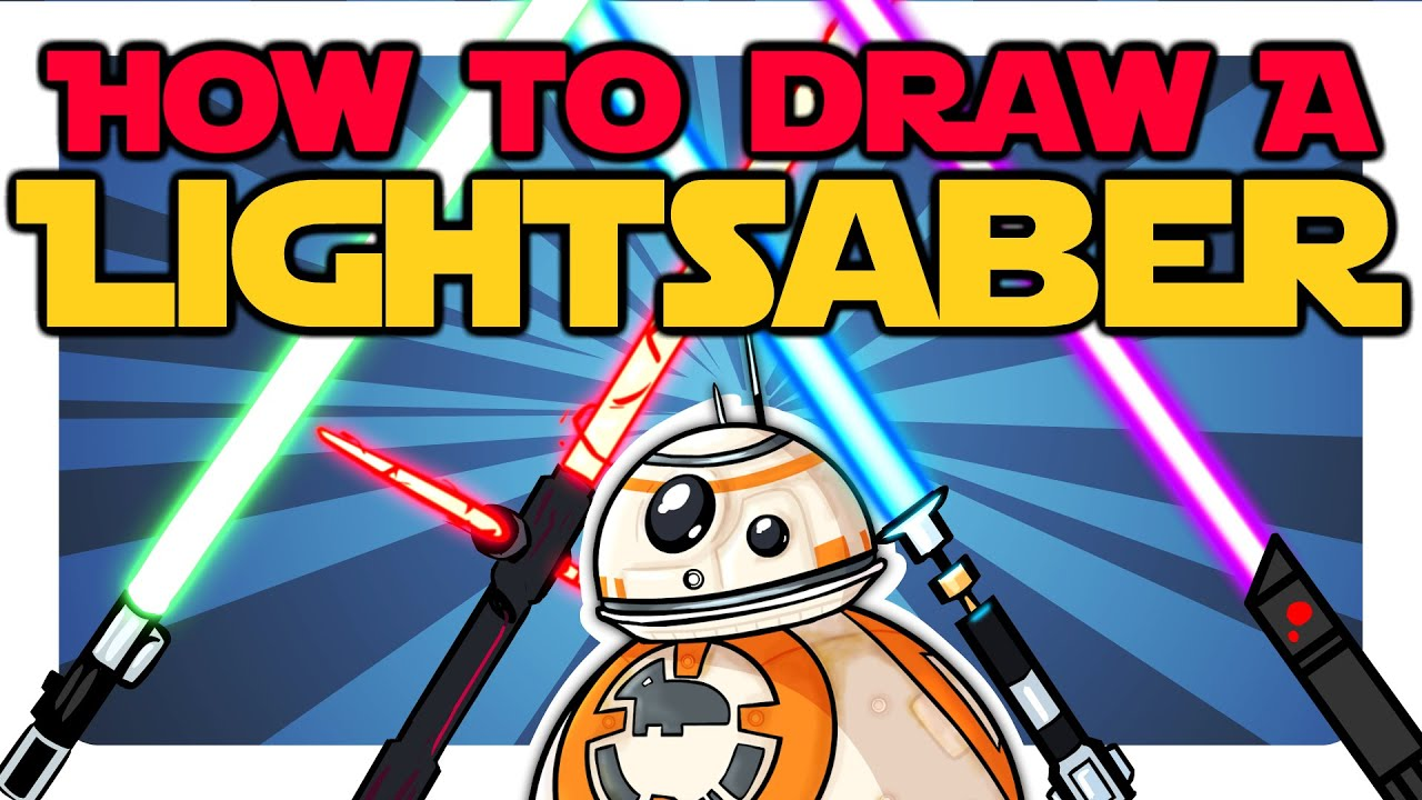 How to draw a lightsaber quickeasy star wars drawing tutorial how to draw a lightsaber quickeasy star wars drawing tutorial flash photoshop crunchlins youtube baditri Images