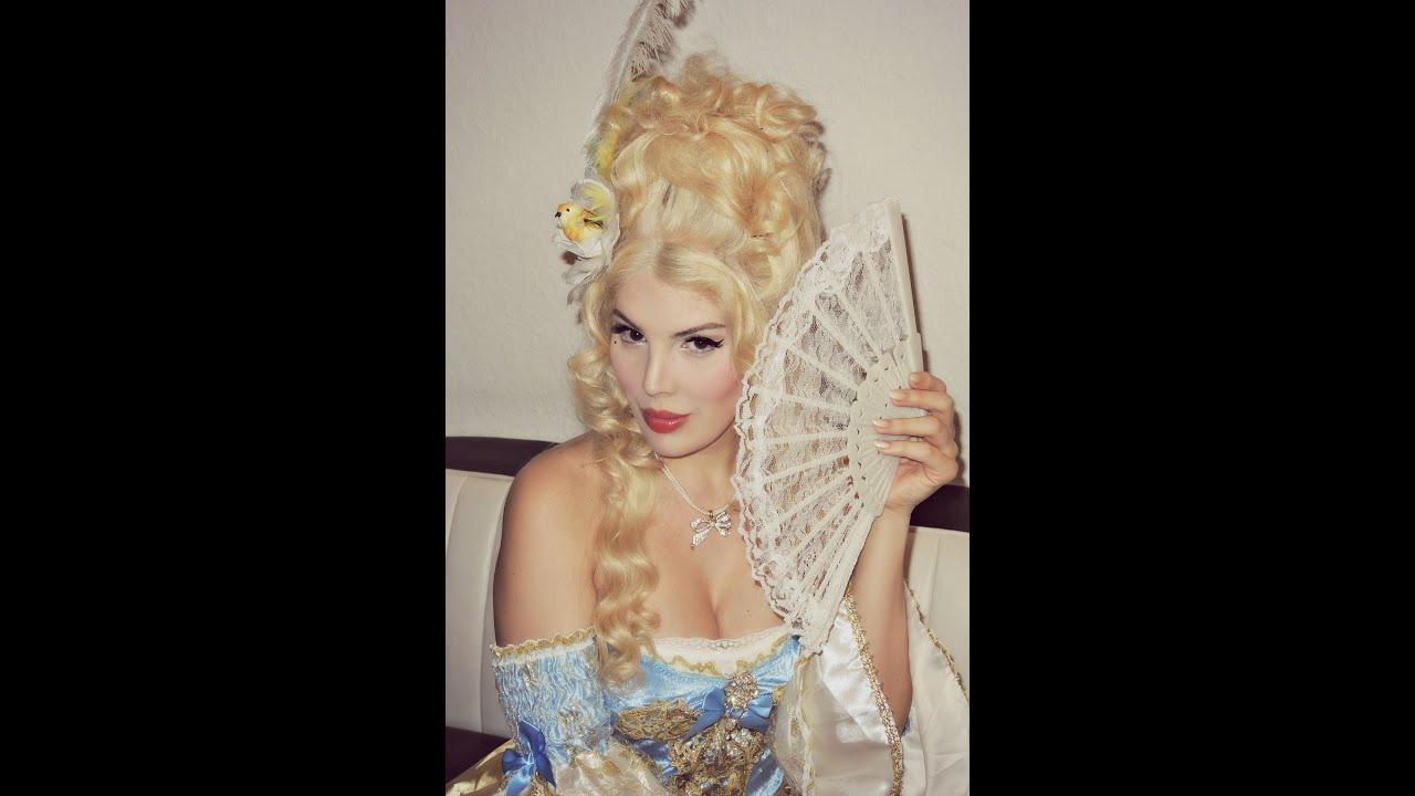 Marie Antoinette inspired Hair Make up u0026 Costume ) ( English u0026 Deutsch ) - YouTube  sc 1 st  YouTube & Marie Antoinette inspired Hair Make up u0026 Costume :) ( English ...