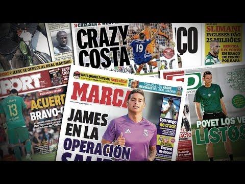 James Rodriguez entre Chelsea et Arsenal, Diego Costa fait polémique