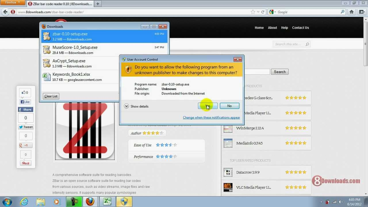 free barcode reader software for windows 7
