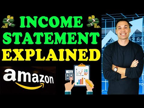 How To Read An Income Statement! - (with Amazon Example)