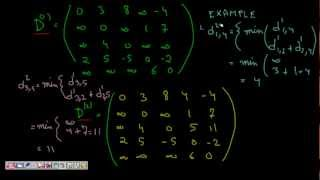 Programming Interview: All Pair Shortest Path  (Floyd Warshall ) Dynamic Programming