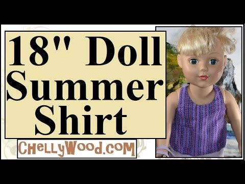 Free Printable Doll Clothes Patterns: 18 Inch Doll Summer Shirt