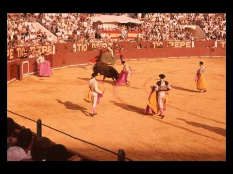 Spain, Andalusia, Ronda, bullfight 1963  Cavedwellings