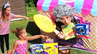 Kids Pretend Play with Food Toys Greedy Granny Ice Cream Shop
