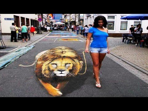 Best of 3D Street Art illusions Ever – 3D Street Art.