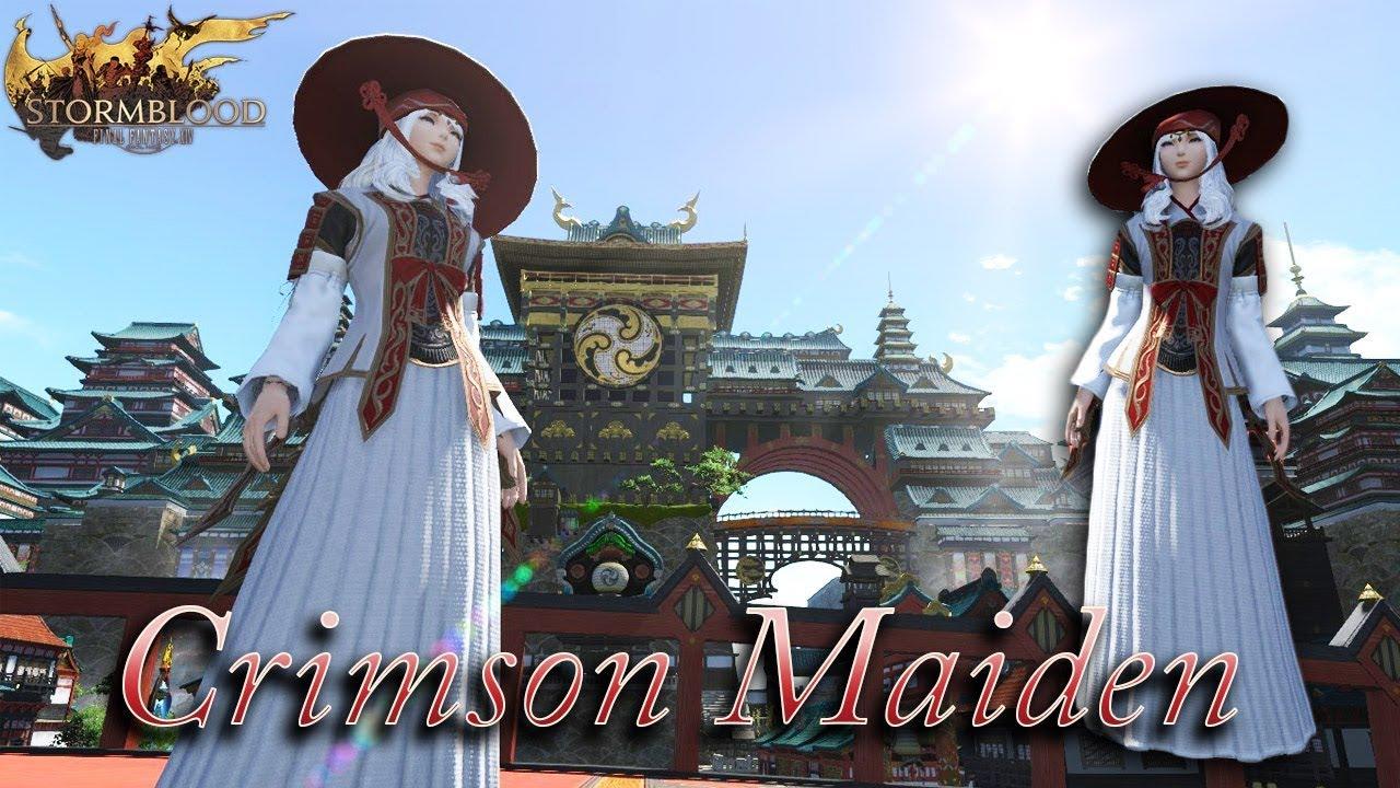 FFXIV: Crimson Maiden Glamour Set