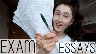 HOW TO WRITE EXAM ESSAYS! UNIVERSITY BIOLOGY STUDENT TIPS + ADVICE | EXAM SEASON DIARY #002