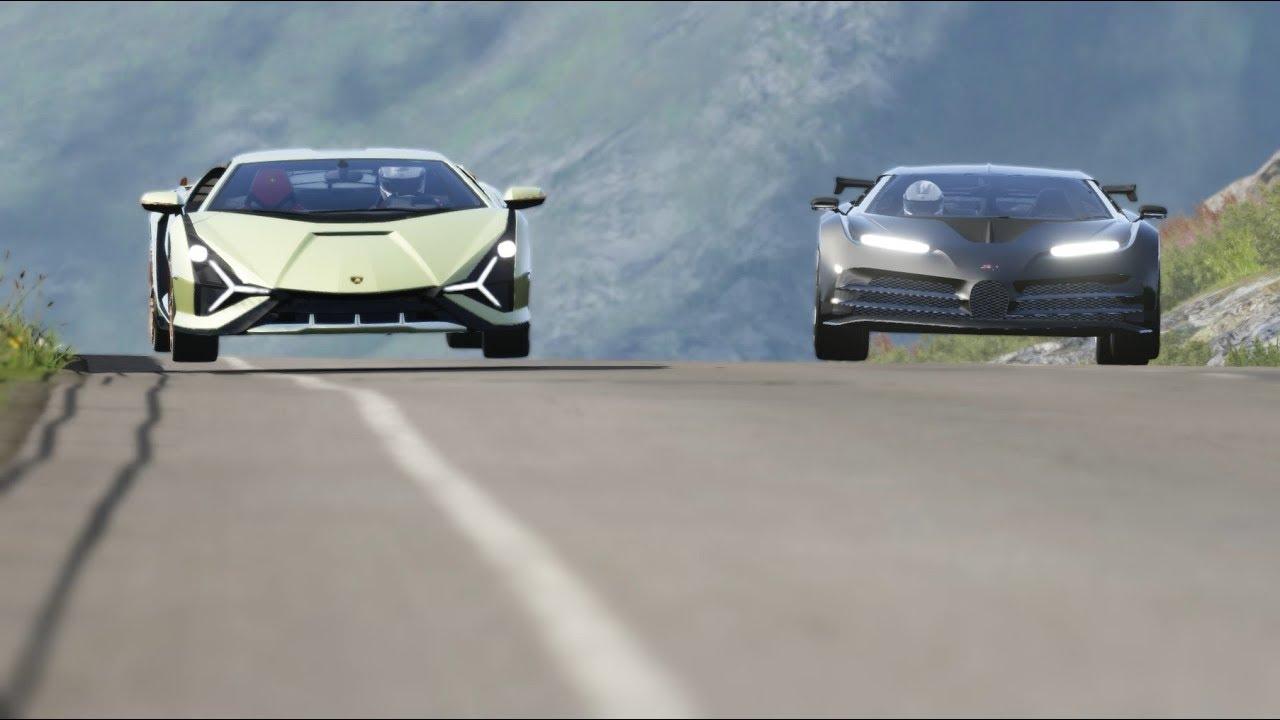 Bugatti Centodieci vs Lamborghini Sian at Monza Full Course