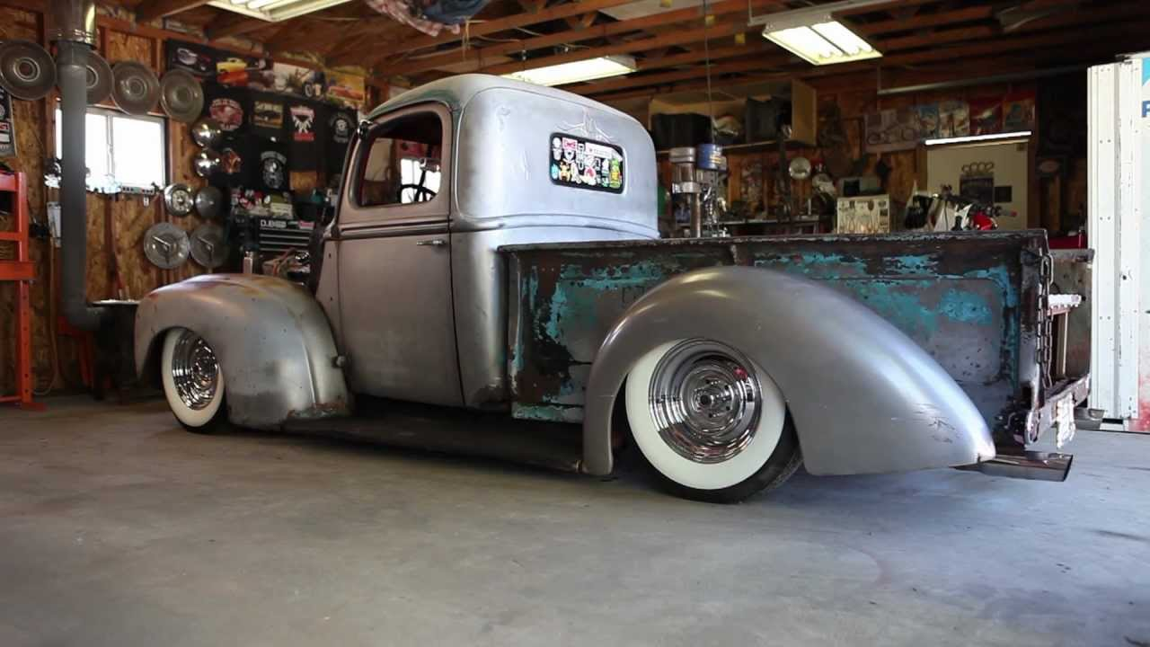 1942 Ford Custom Pickup Truck Bagged - SLC Hardcore C.C. - YouTube
