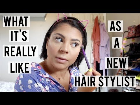 THE REALITY OF BEING A NEW HAIR STYLIST | GAINING CLIENTS, MAKING MONEY, ETC.