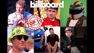 The Billboard Top 10 But It's F1