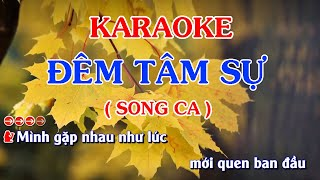 Karaoke Đêm tâm sự SONG CA | Đan Nguyên - Băng Tâm | PBN127