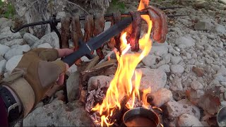 Bacon, Eggs & Coffee on a Fire