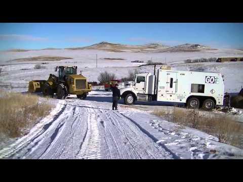 Crushed Rock Sales saves Go Wireline truck Bakken Oilfields North Dakota