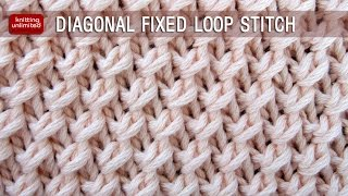 Diagonal Fixed Loop Stitch