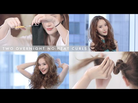 Two Easy Overnight No Heat Holiday Curls