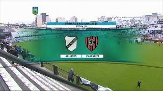 Fútbol en vivo. All Boys - Chacarita. Fecha 18 del torneo de Primera B Nacional. FPT.