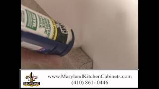 Caulking Gaps - Homeowner How To - Maryland Kitchen Cabinets