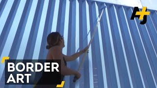 This Artist Is Erasing The U.S.-Mexico Border Fence With Blue Paint