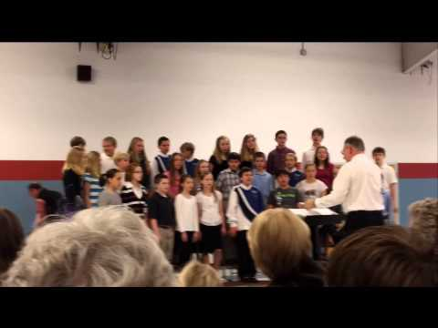 Immanuel Lutheran School 6th Grade Chorus perfomance at the Fine Arts Festival
