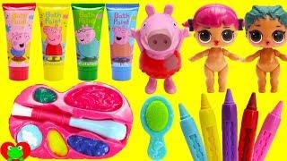 LOL Surprise Dolls Wash Peppa Pig Bath Soaps Body Paints LOL Pets