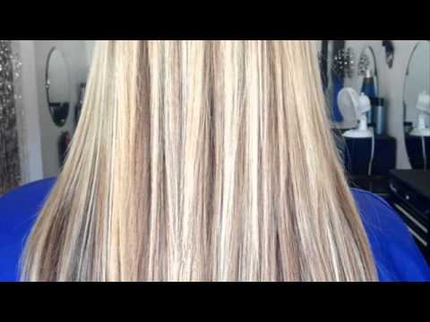 bleach blonde hair with lowlights - YouTube