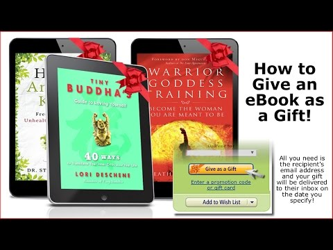 How To Give A Kindle Ebook As A Gift
