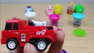 Play Doh and Robocar Poli Fire Engine Police Car Toy