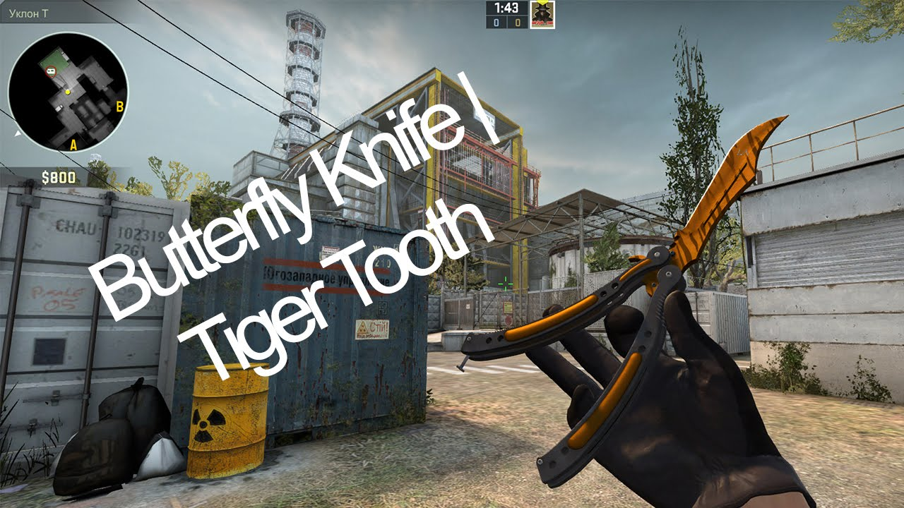 Butterfly Knife Tiger Tooth Зуб Тигра Youtube