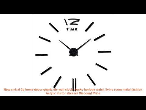New arrival 3d home decor quartz diy wall clock clocks horloge watch l