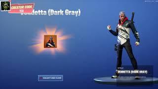 "*NEW* UNLOCKING Vendetta ""Dark Gray"" Outfit Style on Fortnite Battle Royale Season 9"