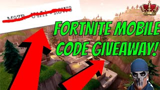 FORTNITE MOBILE CODE GIVEAWAY! (Fortnite Battle Royale)