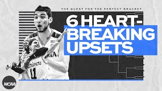 Six upsets that crushed March Madness brackets