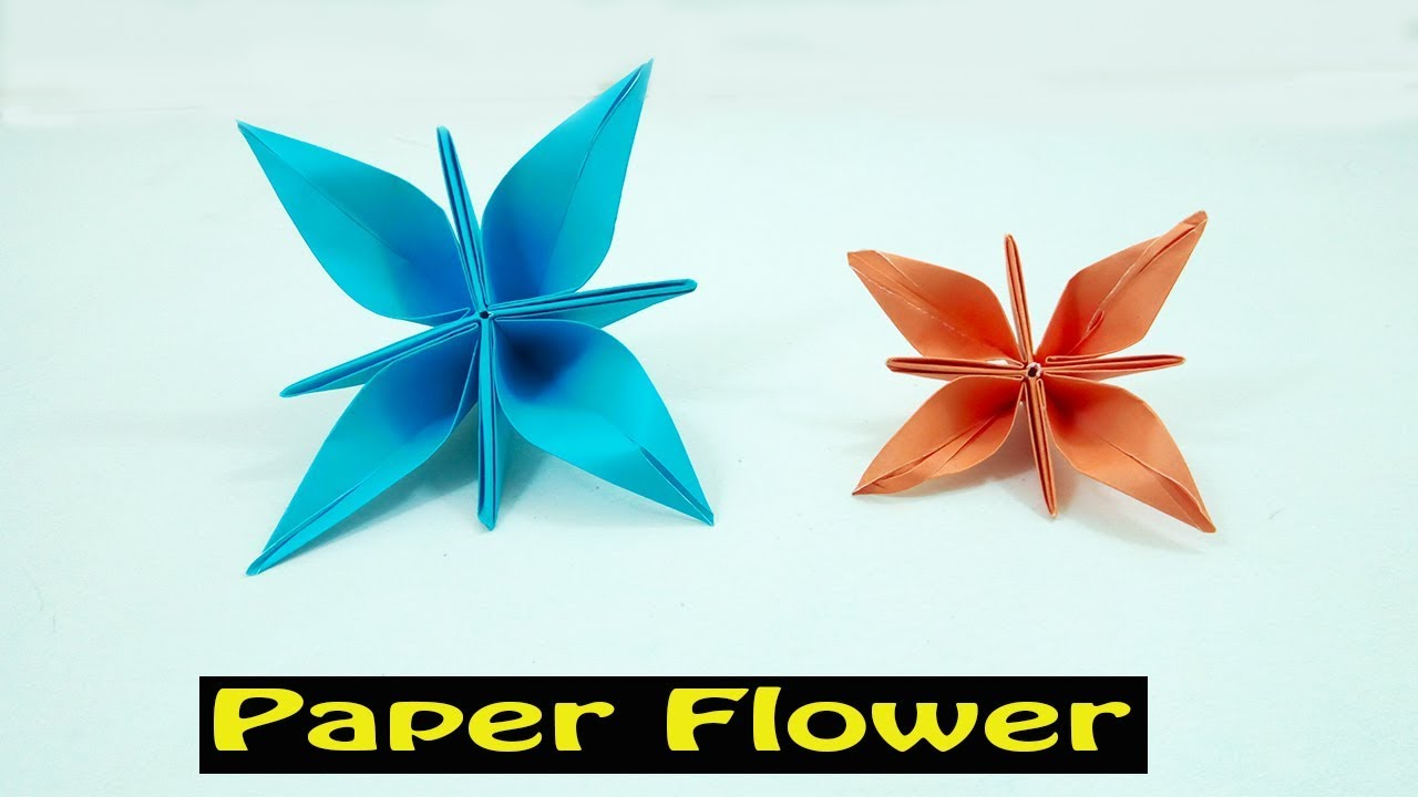 Easy Origami Flower For Beginners Diy Paper Flower Making Youtube