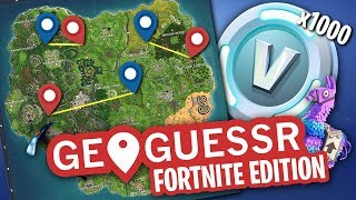 Fortnite Geoguessr w/Little Brother - France 1000 V BUCKS Prix!!!