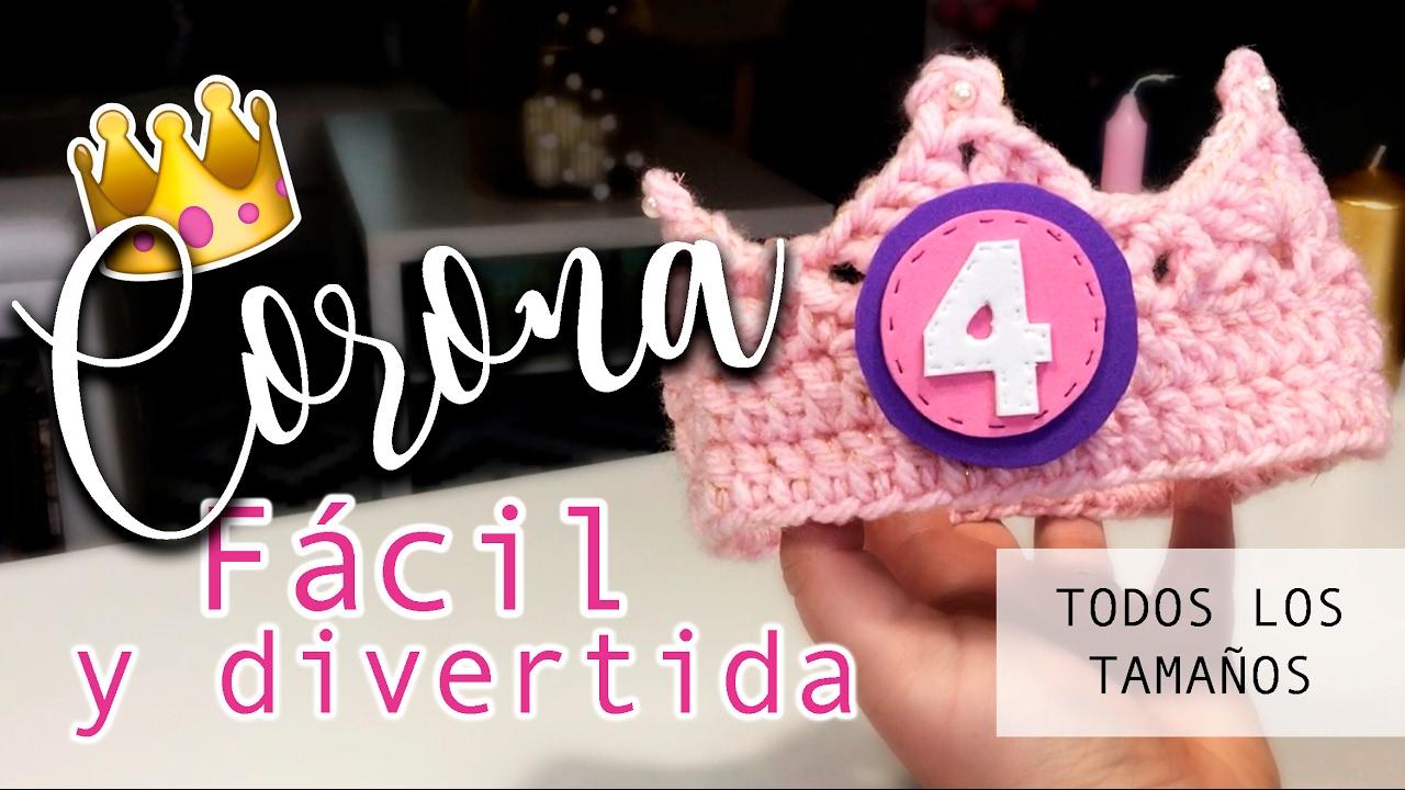 Patrón Corona de Ganchillo - Tutorial ¡¡MUY FÁCIL!! - Todos los ...